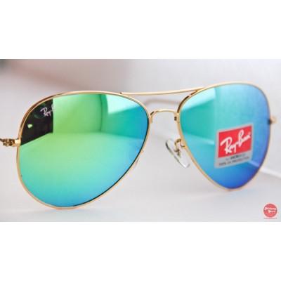 Купить Ray Ban 3025 mirror green gold в интернет магазине Муравей RU